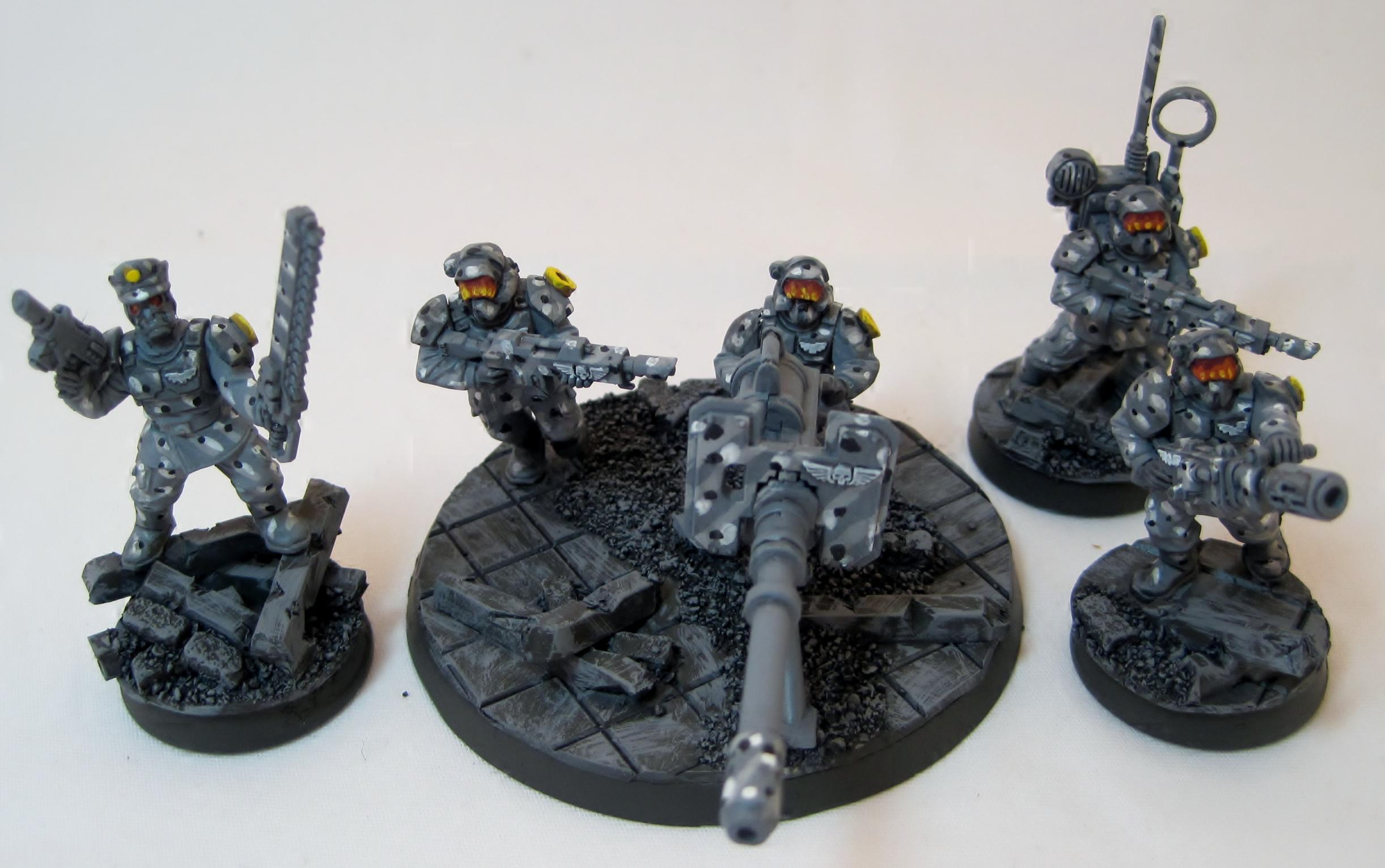 Cadians, Camouflage, Guardsmen, Imperial Guard, Infantry, Platoon, Urban