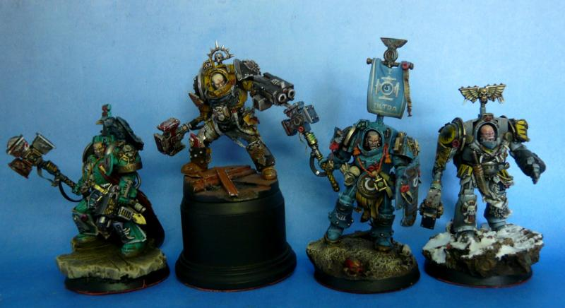 Conversion, Space Marines, Space Wolves, Terminator Armor, Thunder Hammer, True Scale, Ultramarines