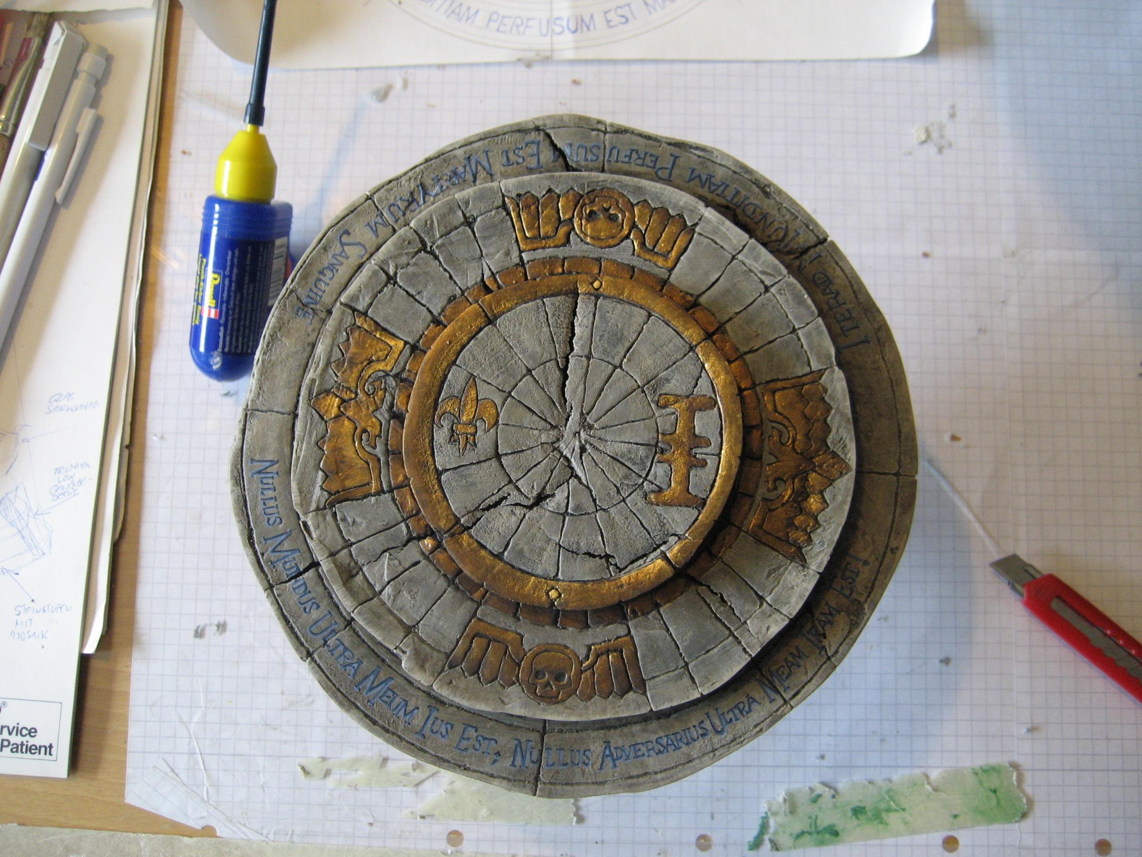 the painted base