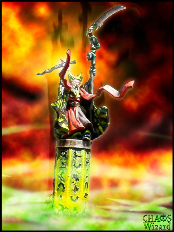 Wizard Chaos Sorcerer Spell Warhammer By Rossi Remy, Wizard Chaos Universal Sorcerer Spell Warhammer By Rossi Remy, Wizard Sorcerer Of Universal Chaos - General Of Army - Warhammer - Games Workshop - Artwork By Rr