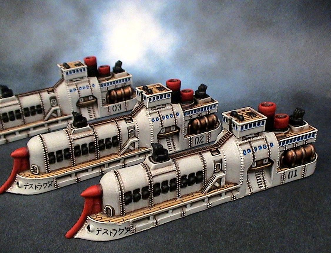 Dystopian Wars, Empire Of The Blazing Sun, Eotbs, Eotbs Cruisers, Spartan Games