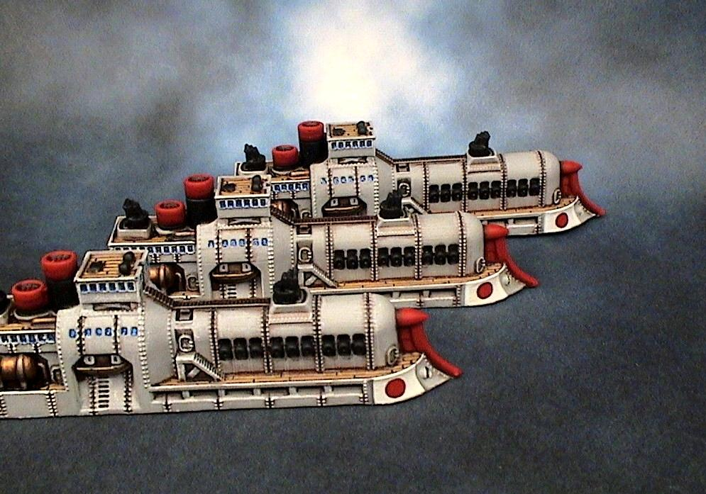 Cruiser, Dystopian Wars, Empire Of The Blazing Sun, Spartan Games