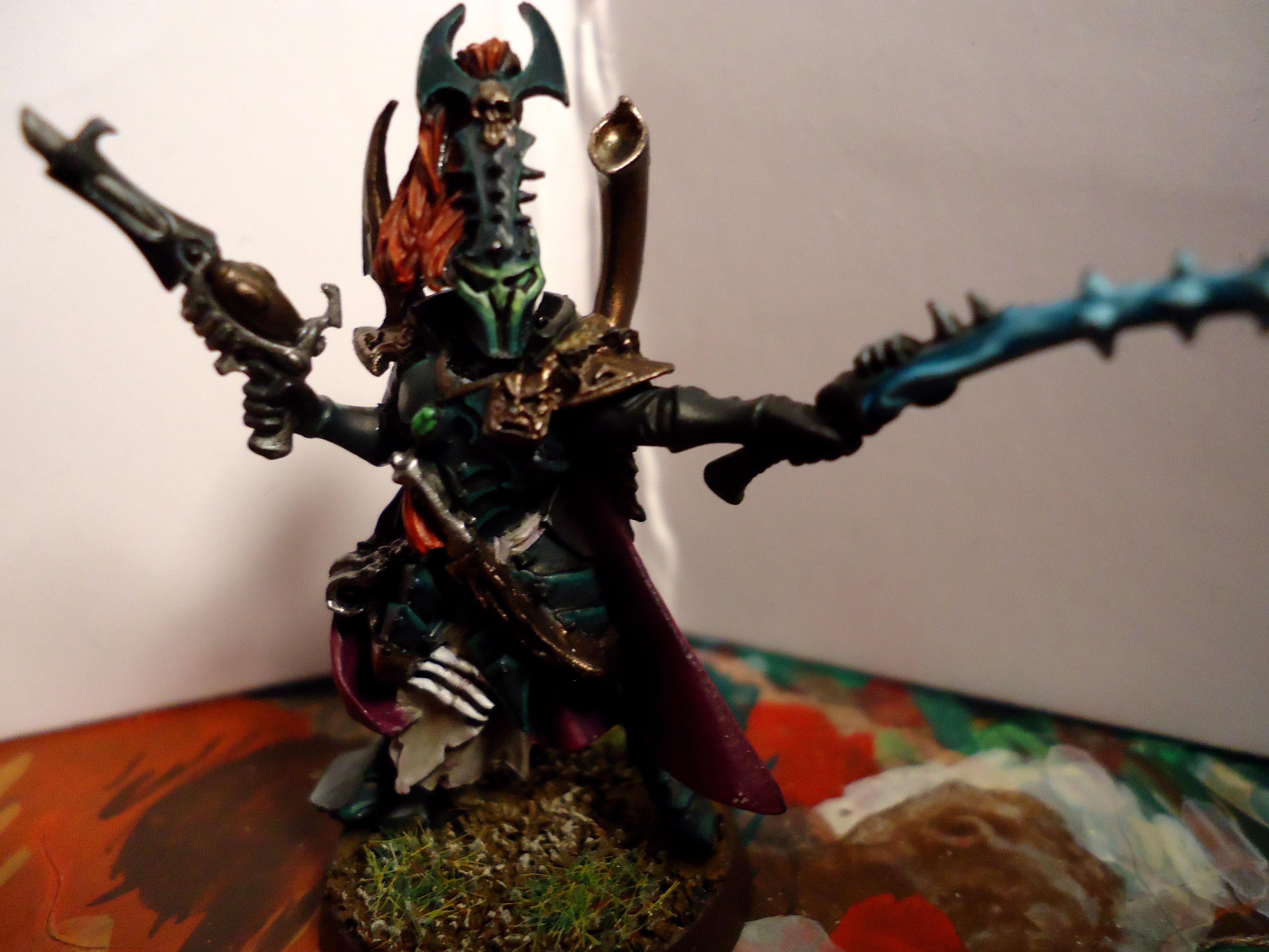 Archon, Black Heart, Blast Pistol. Green, Dark Eldar, Purple