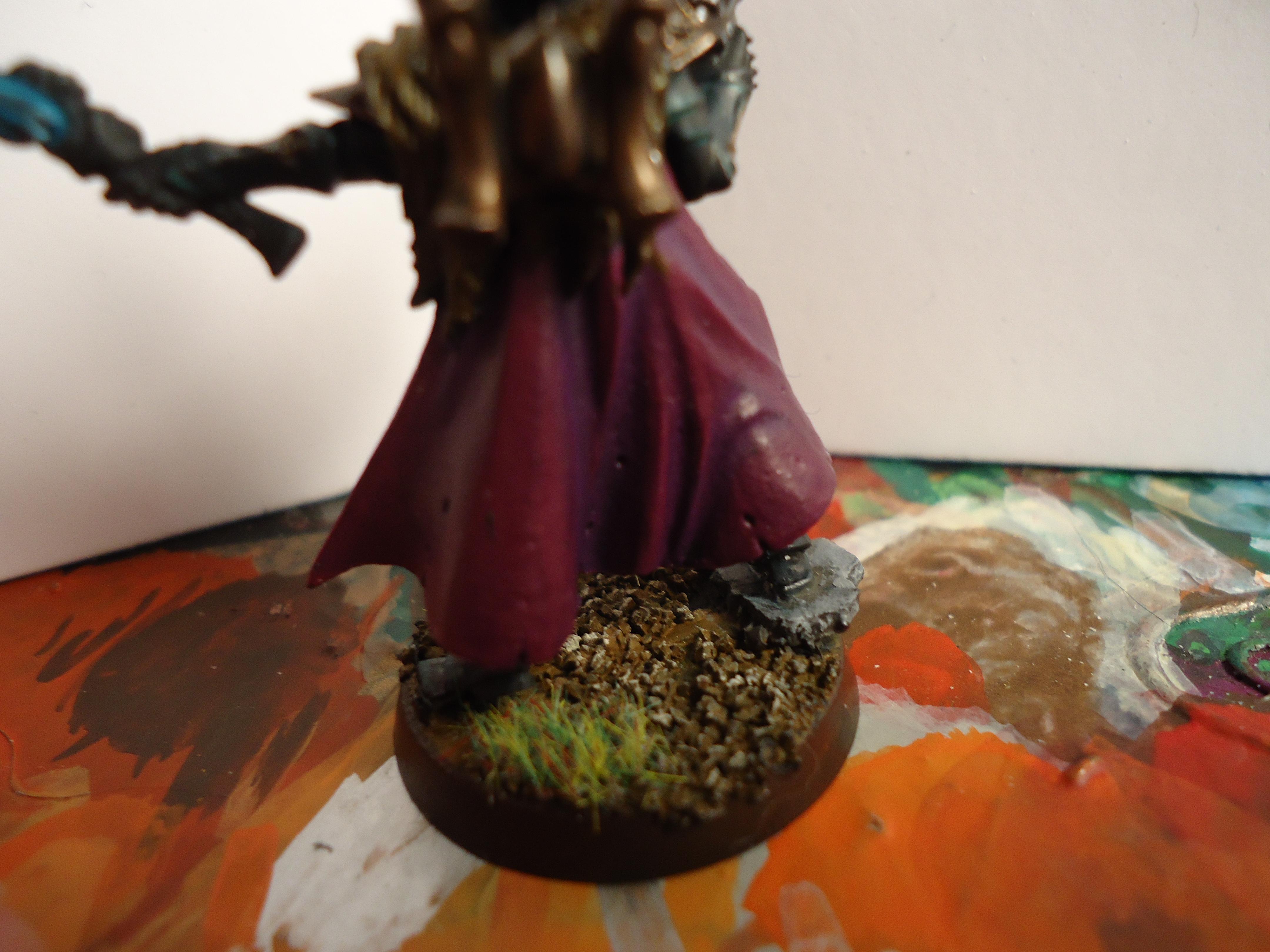 Dark Eldar, dark eldar archon cape close up