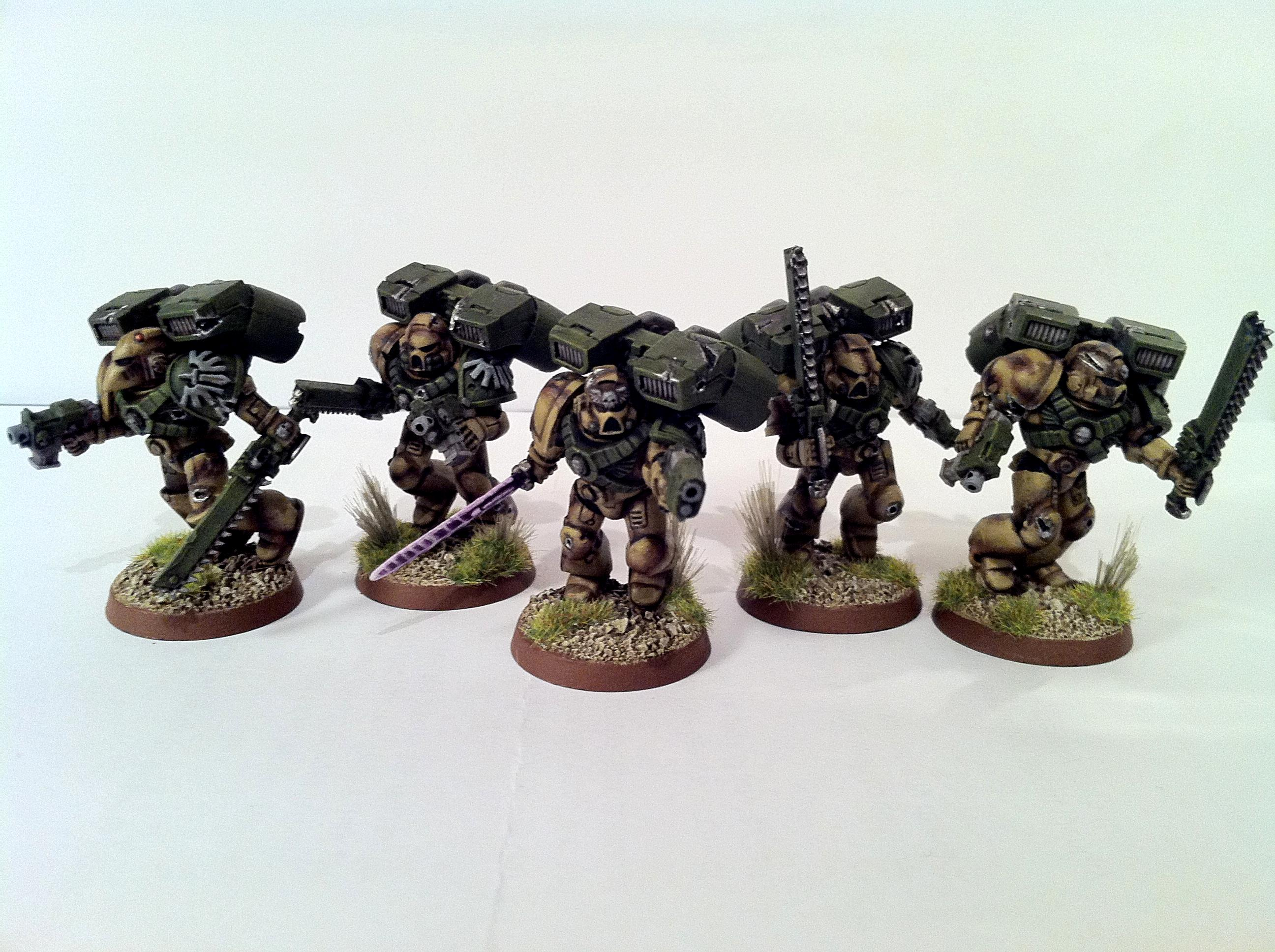 Assualt Squad, Dark Angels, Sace Marines, Weathered