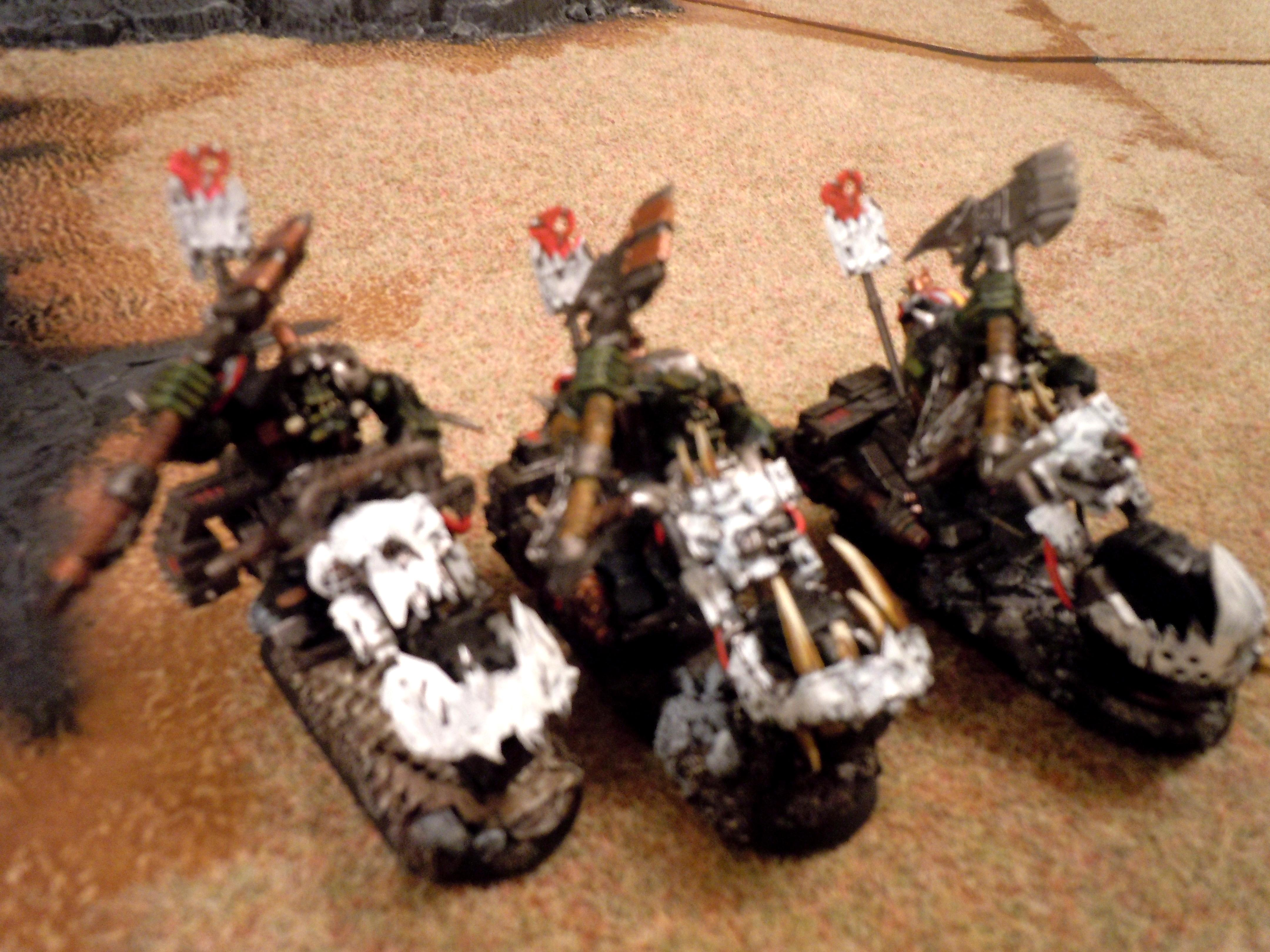 Ork Bikers, Nobz with huge choppas