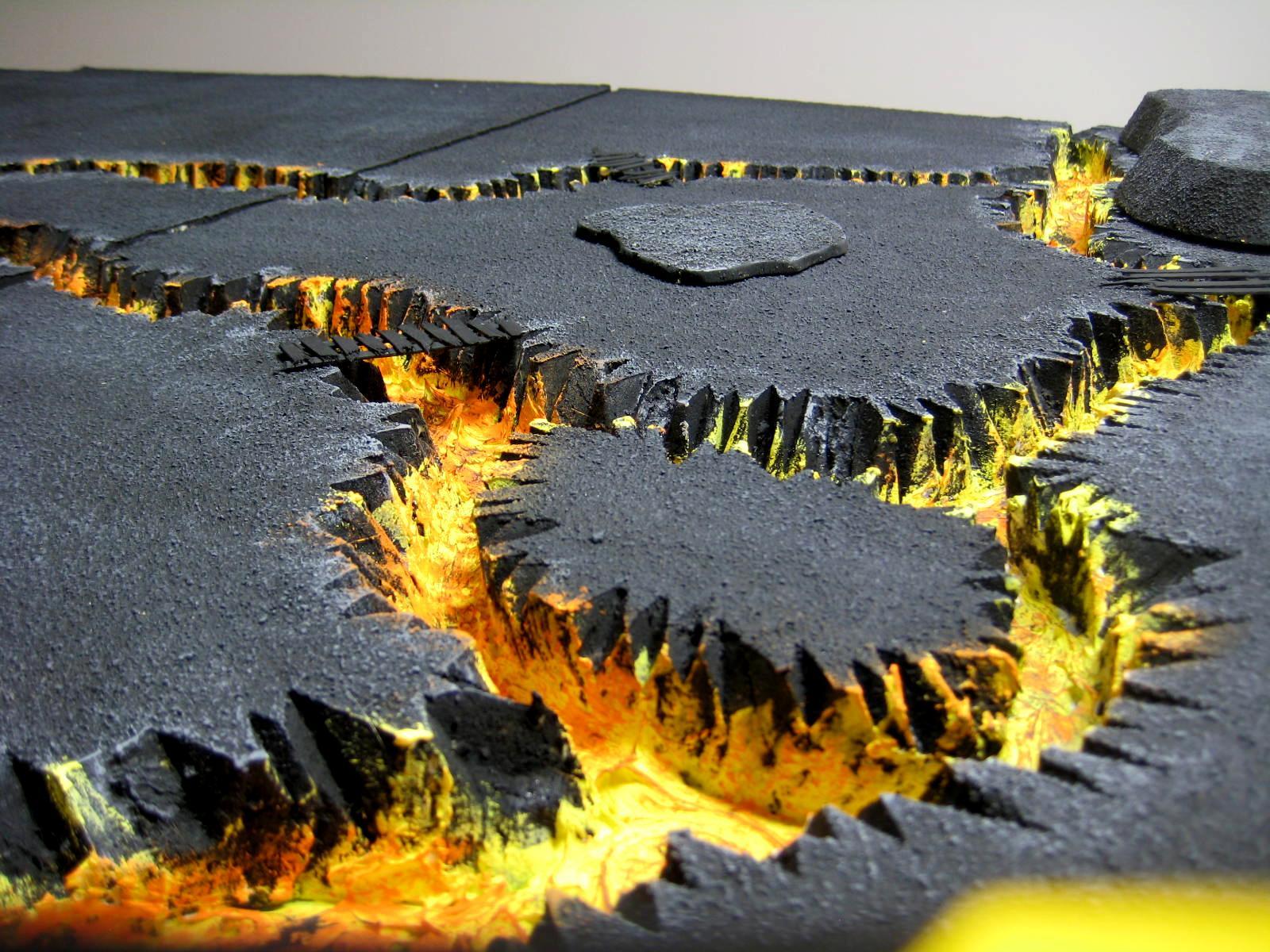 Board, Field, Lava, River, Terrain, Volcano