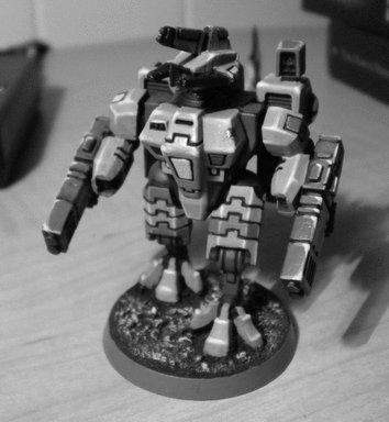 Tau Crisis XV-8 Sunforge+ Greyscale