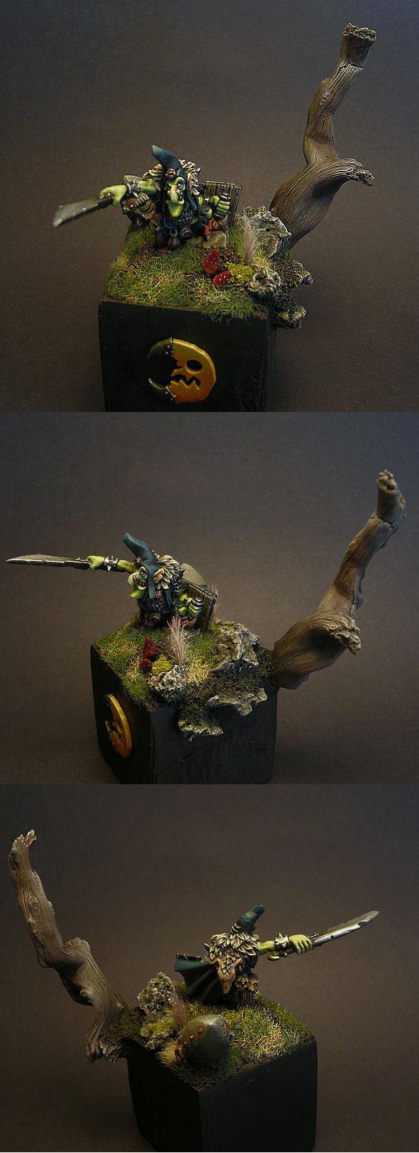 Base, Goblin Warboss, Goblins, Night Goblins, Warhammer Fantasy