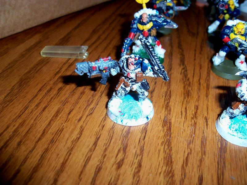 Combi, Flamer, Scouts, Seargent, Space Marines