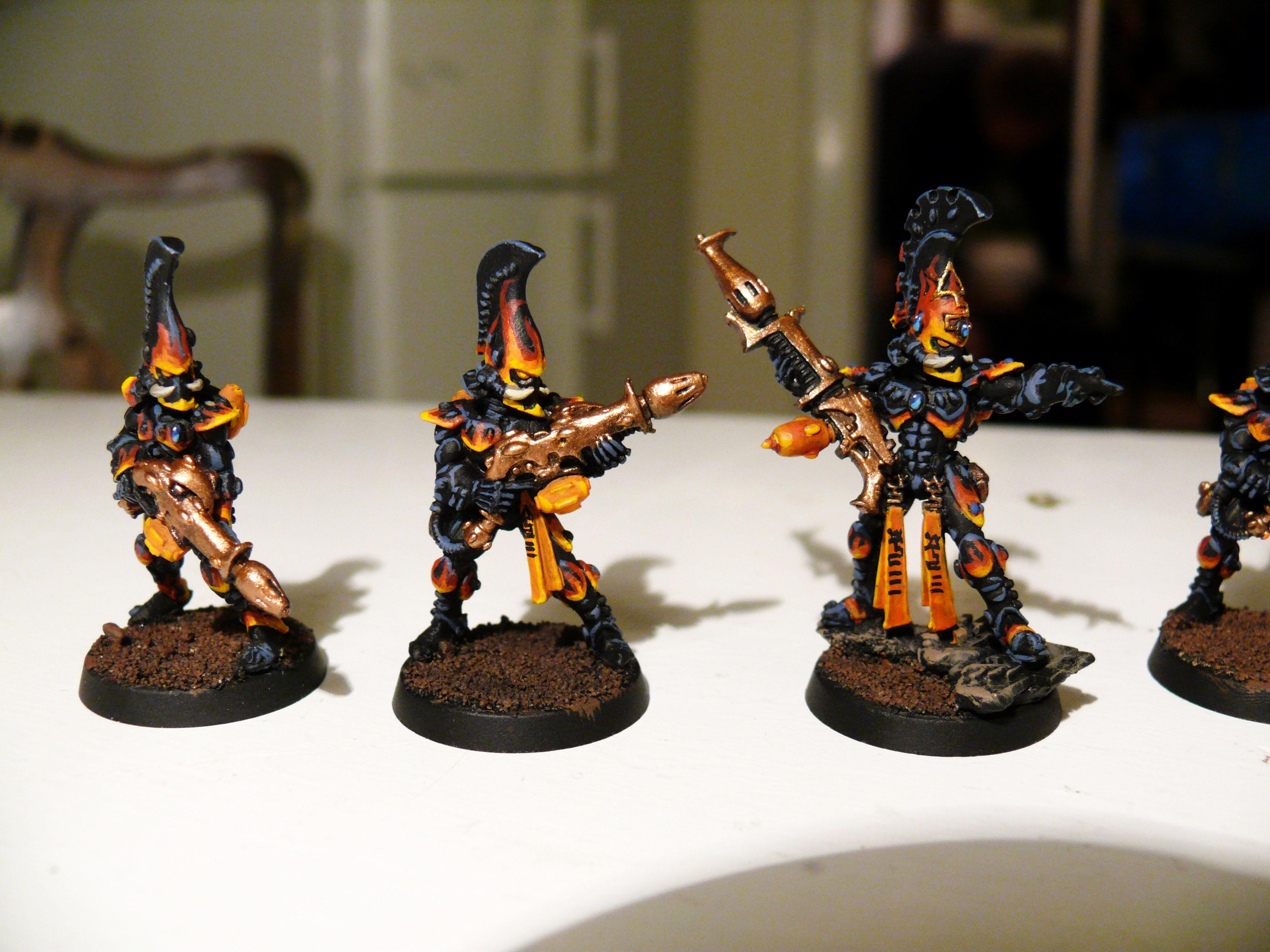 Aspect, Dragon, Eldar, Exarch, Fire, Warriors