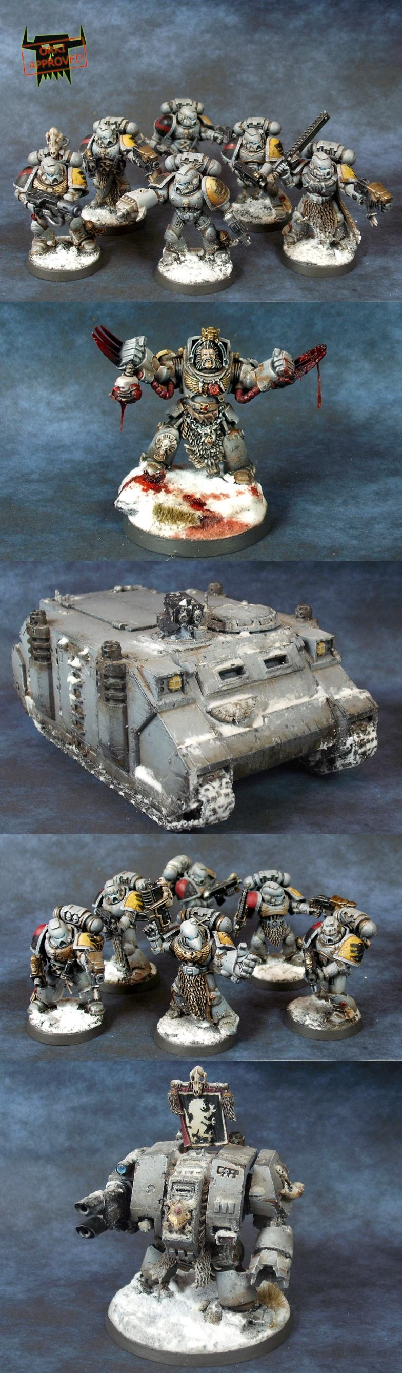 Commander In Terminator Armour, Dreadnought, Rhino, Space Marines, Space Wolves, Tactical Squad