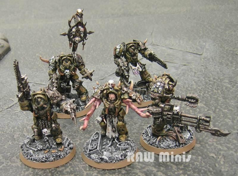 Chaos, Chaos Space Marines, Conversion, Death Guard, Nurgle, Painting, Terminator Armor, Warhammer 40,000