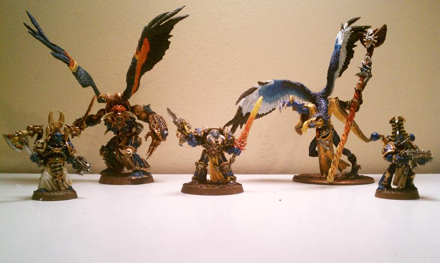 Chaos Lord, Daemon Prince, Greater Deamon, Lord Of Change, Sorcerer, Terminator Armor, Thousand Sons, Tzeentch, Warhammer 40,000