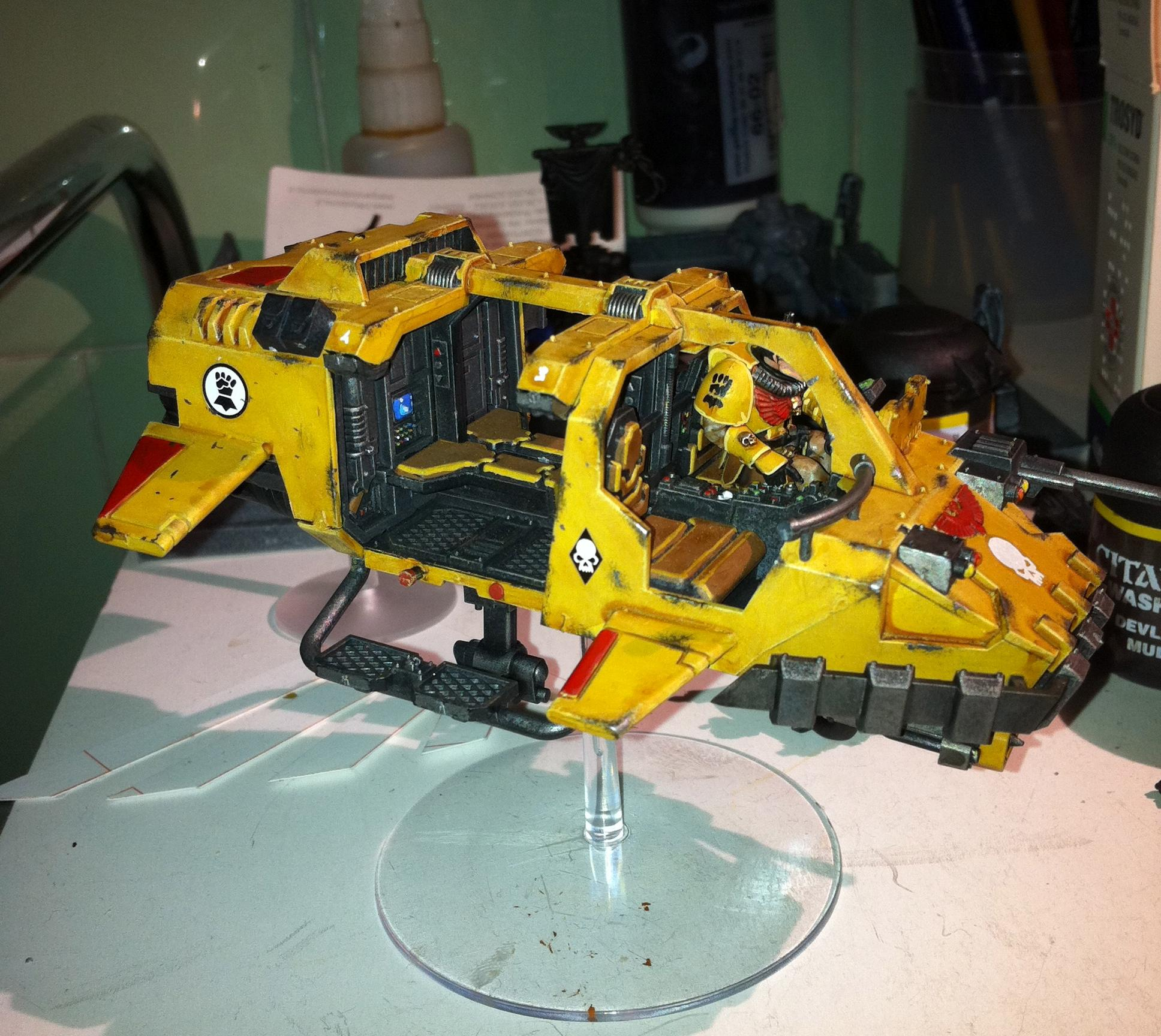 Imperial Fists, Land Speeder Storm, Work In Progress