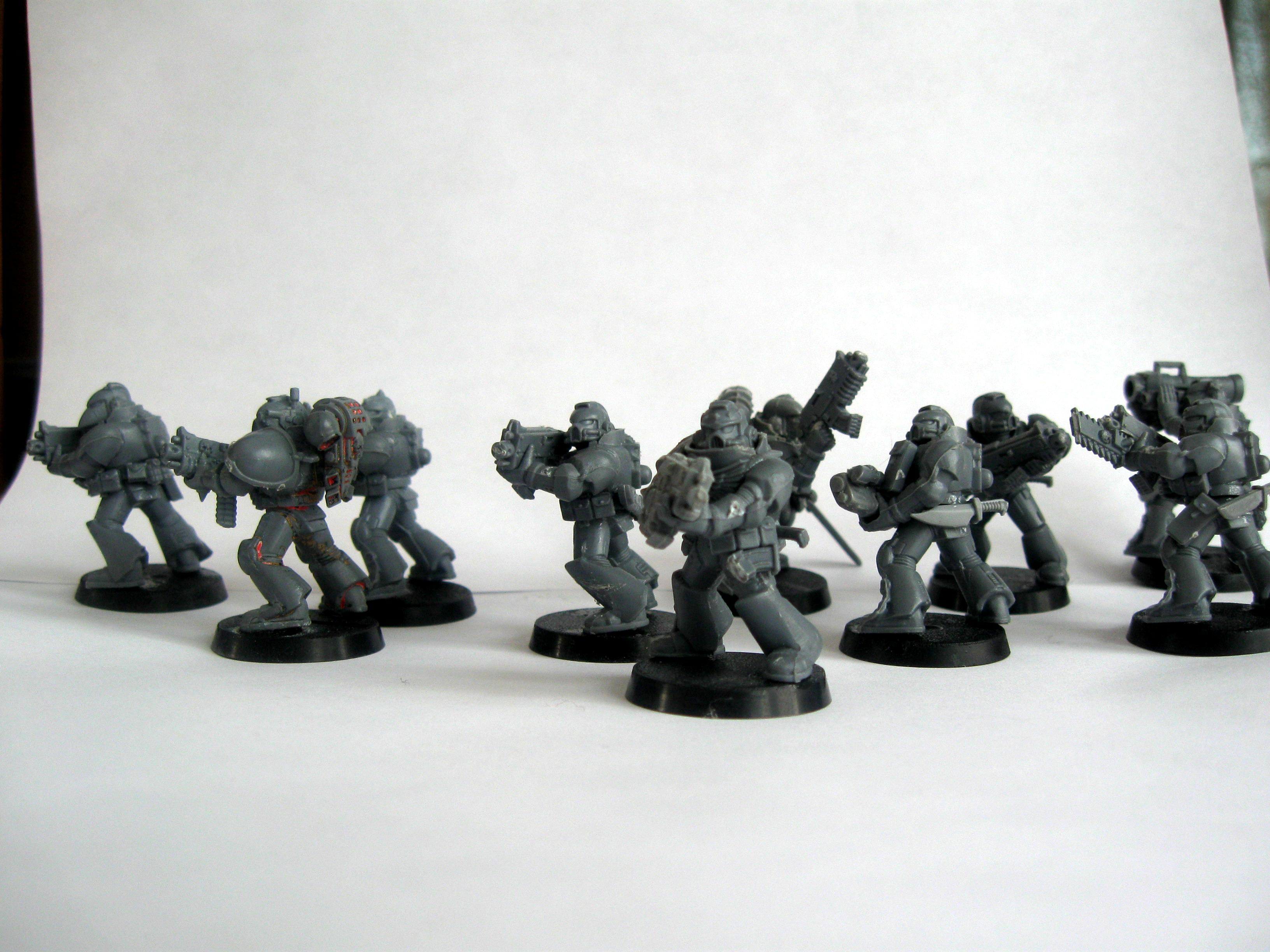 Space Marines, Wanderers Tactical Squad Wip, Warhammer 40,000