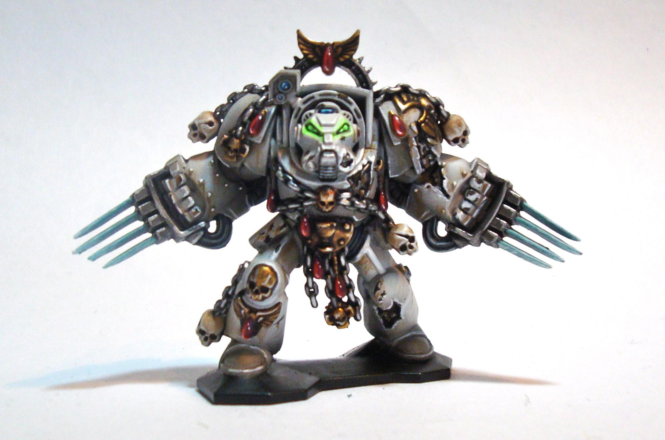 Angel Exemplar, Assault Terminator, Lightning Claws, Space Marines, Terminator Armor, Warhammer 40,000, Weathered