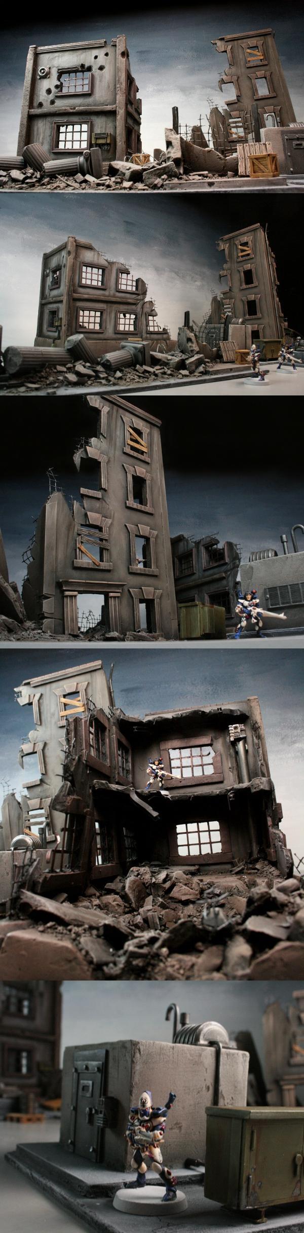 Cities Of Death, City, Infinity, Ruins, Set, Terraformer, Urban, Wargames, Warhammer 40,000