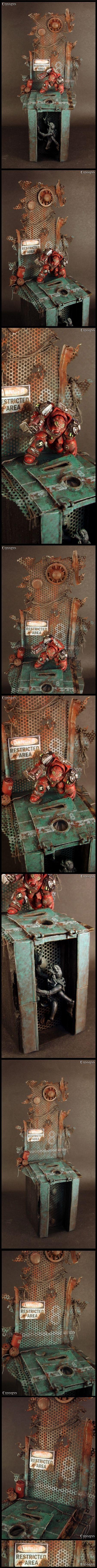 Blood Angels, Genestealer, Space Hulk, Space Marines, Terminator Armor, Tyranids, W40k, Warhammer 40,000
