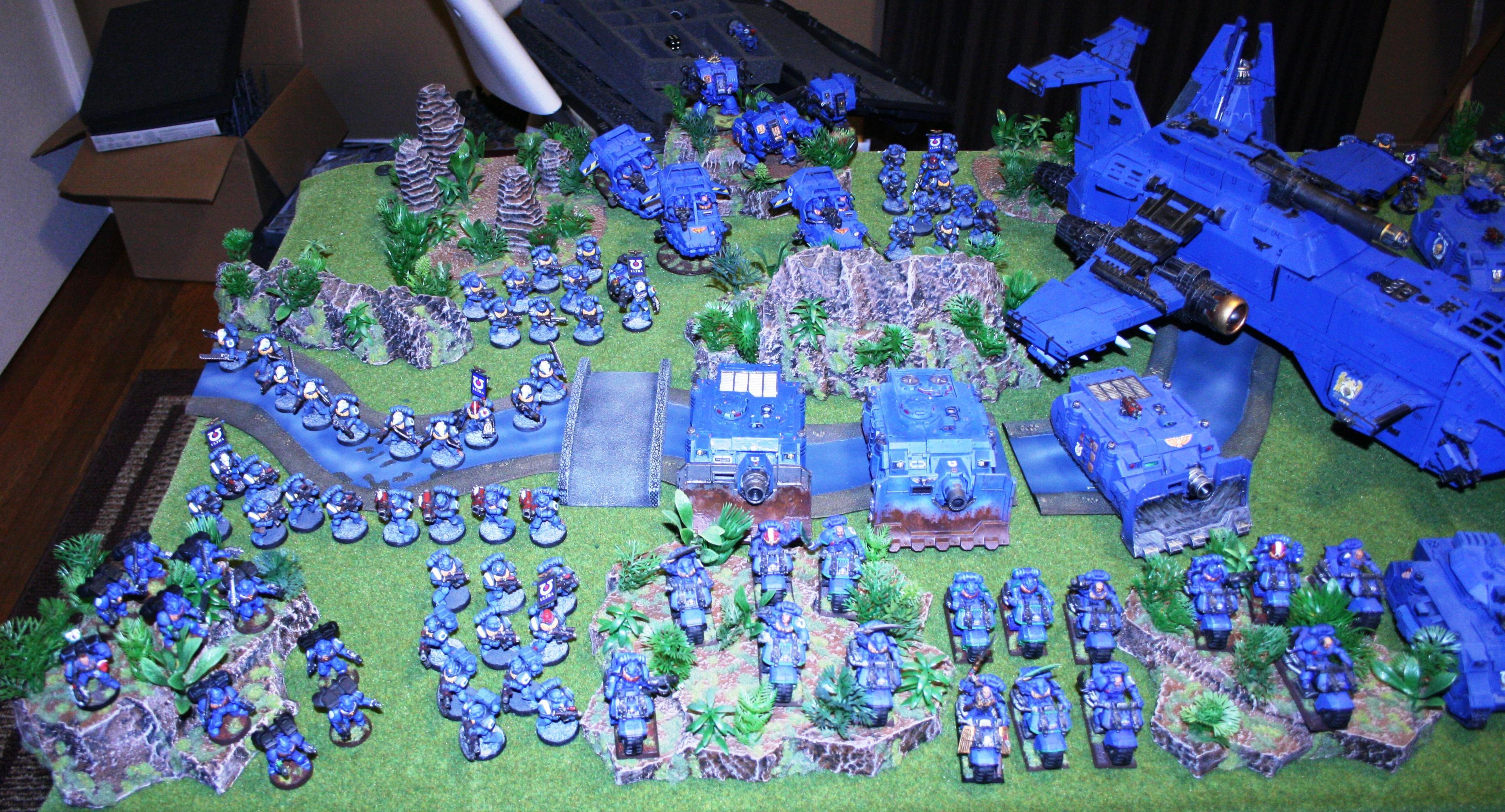 Army, Gunship, Storm Raven, Ultramarines