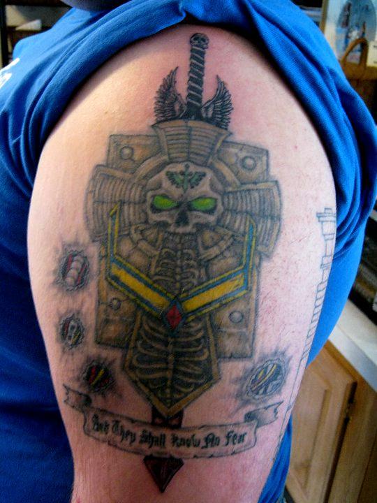 Crux Terminatus, Dark Angels, Tattoo