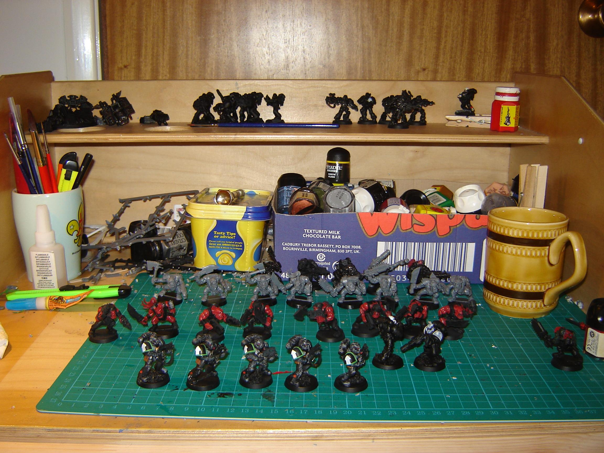 Raven Guard, Space Marines, Warhammer 40,000, Work In Progress