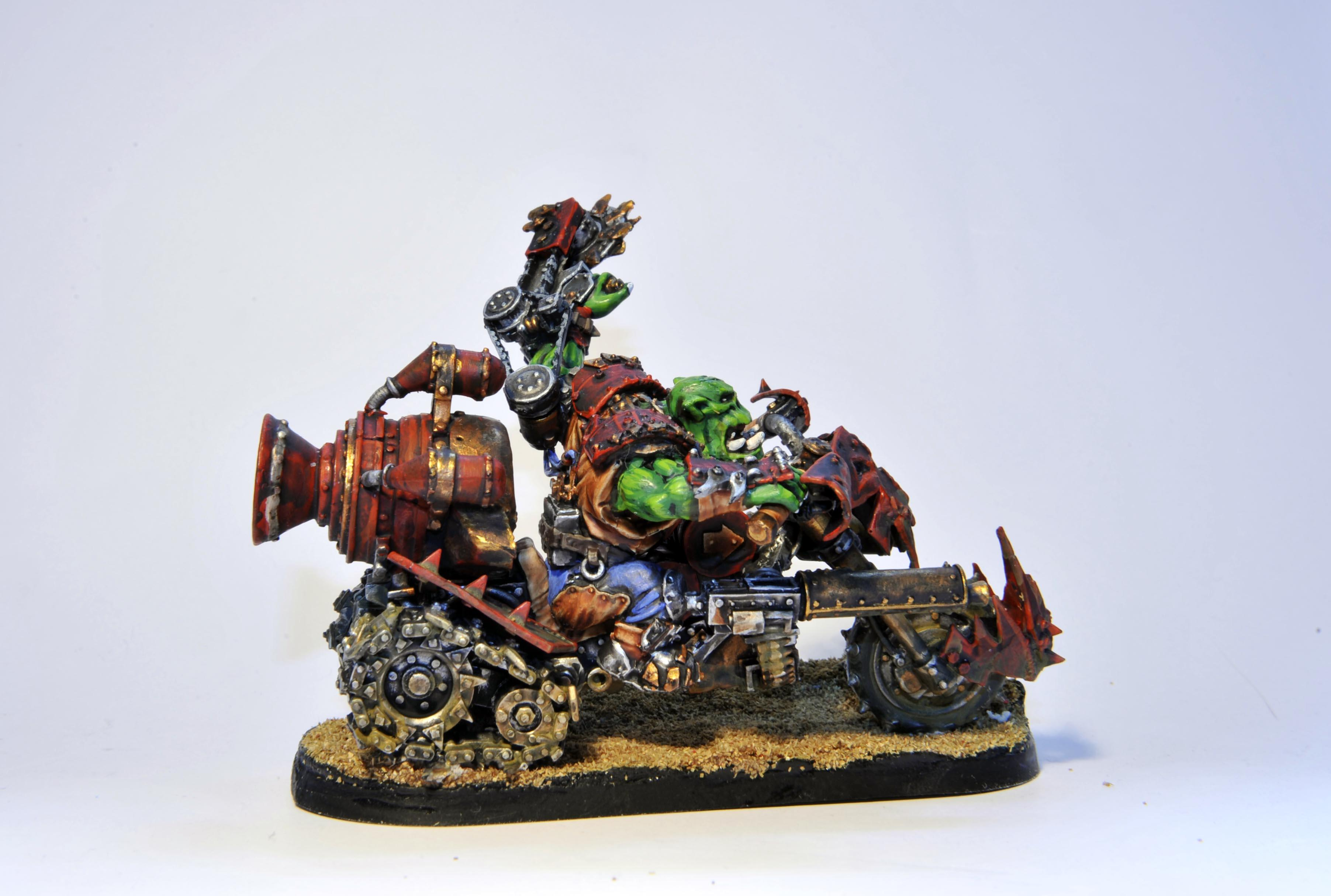 Forge World, On, Orks, Warbike, Warboss
