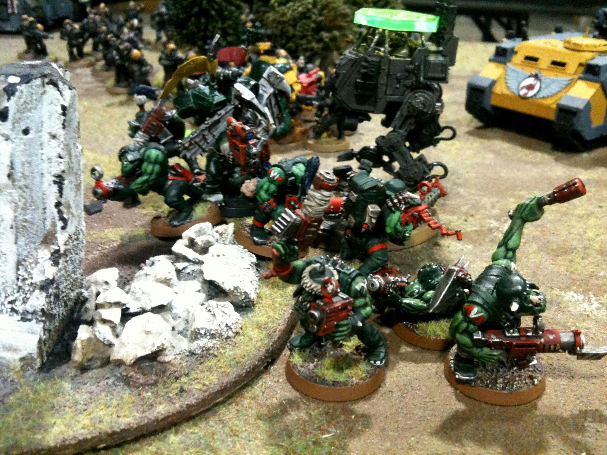 Battle Report, Da Ork Angelz, Imperial Guard, Orks