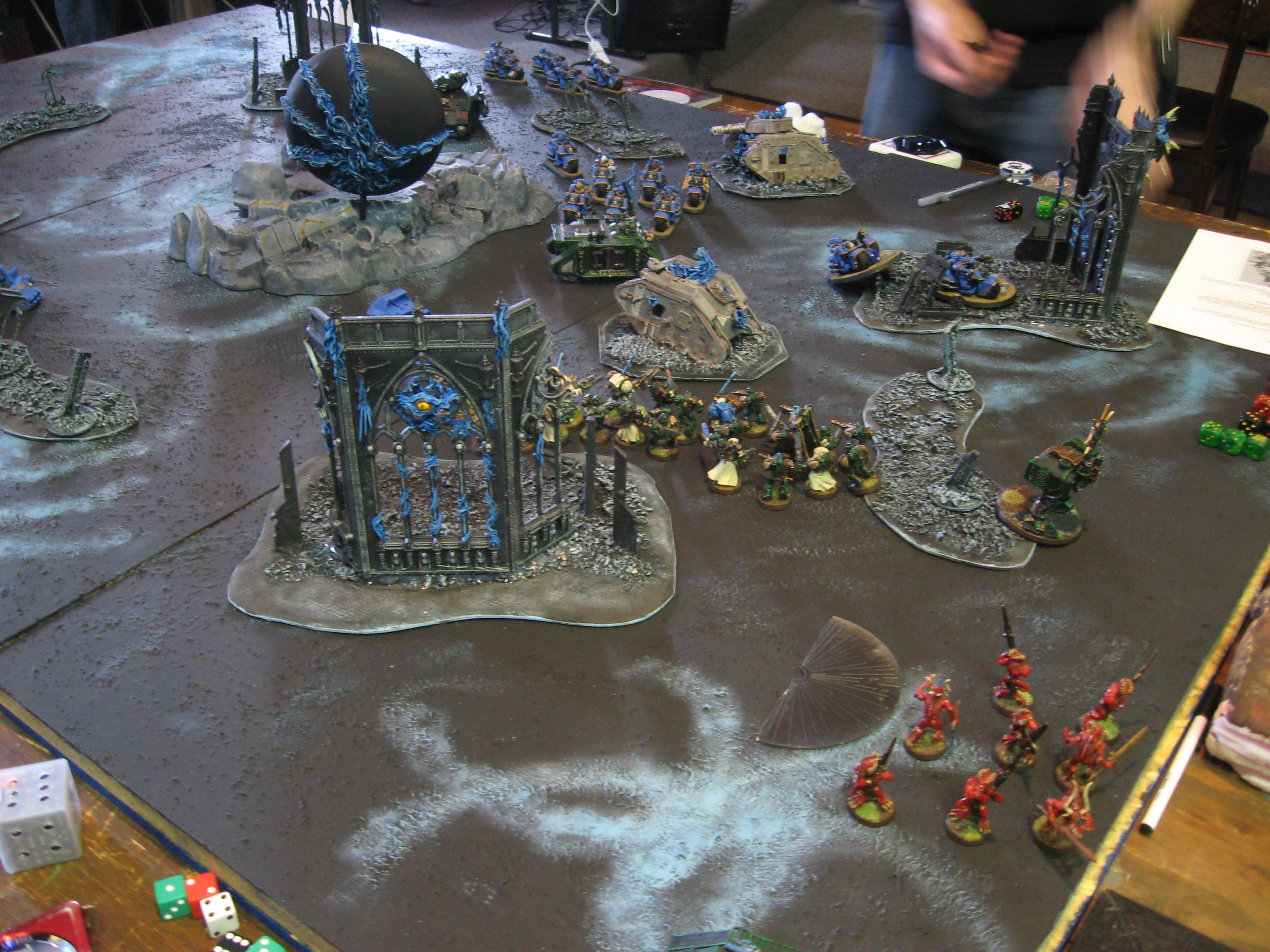 Chaos Daemons, Daemons, Daemonworld, Game Table, Space Marines, Terrain, Warhammer 40,000