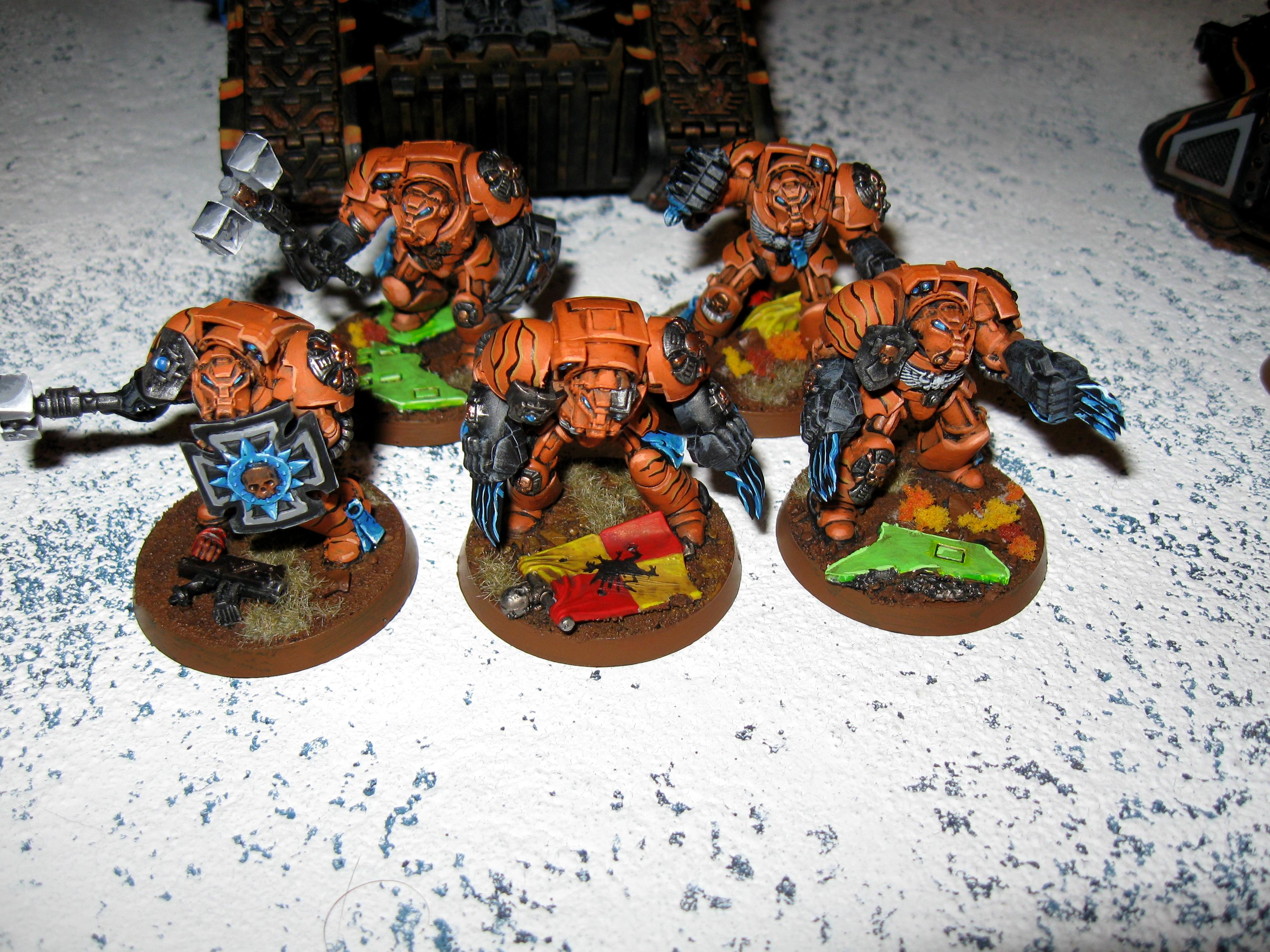 Assault Terminators, Astral Claws, Badab War, Space Marines, Terminator Armor, Tiger Claws, Warhammer 40,000