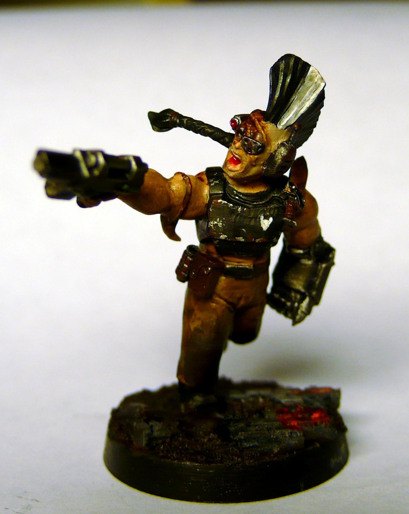 Burns, Flak, Mohawk, Necromunda, Power Fist