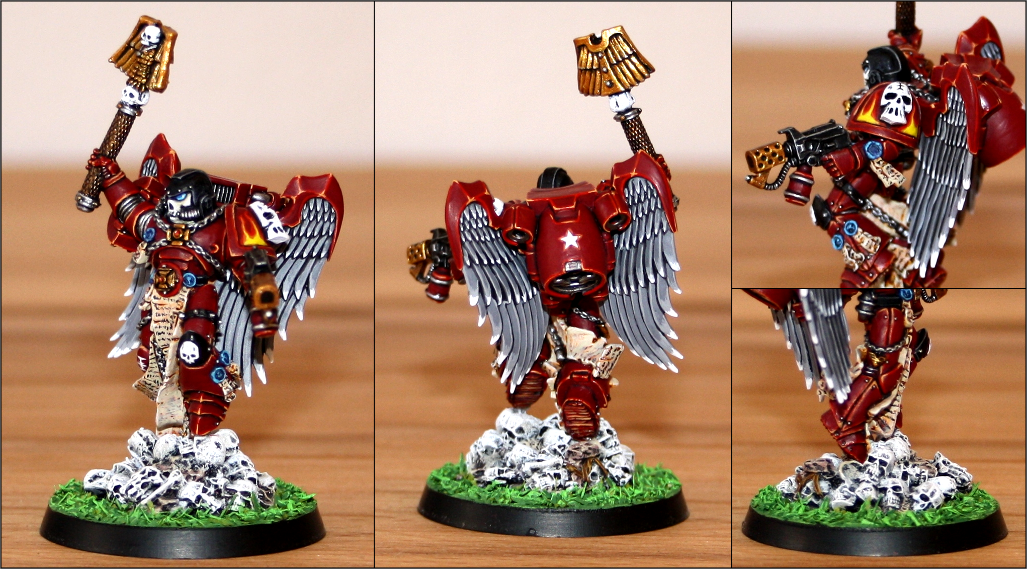 Chaplain, Red Hunters, Space Marines, Winged