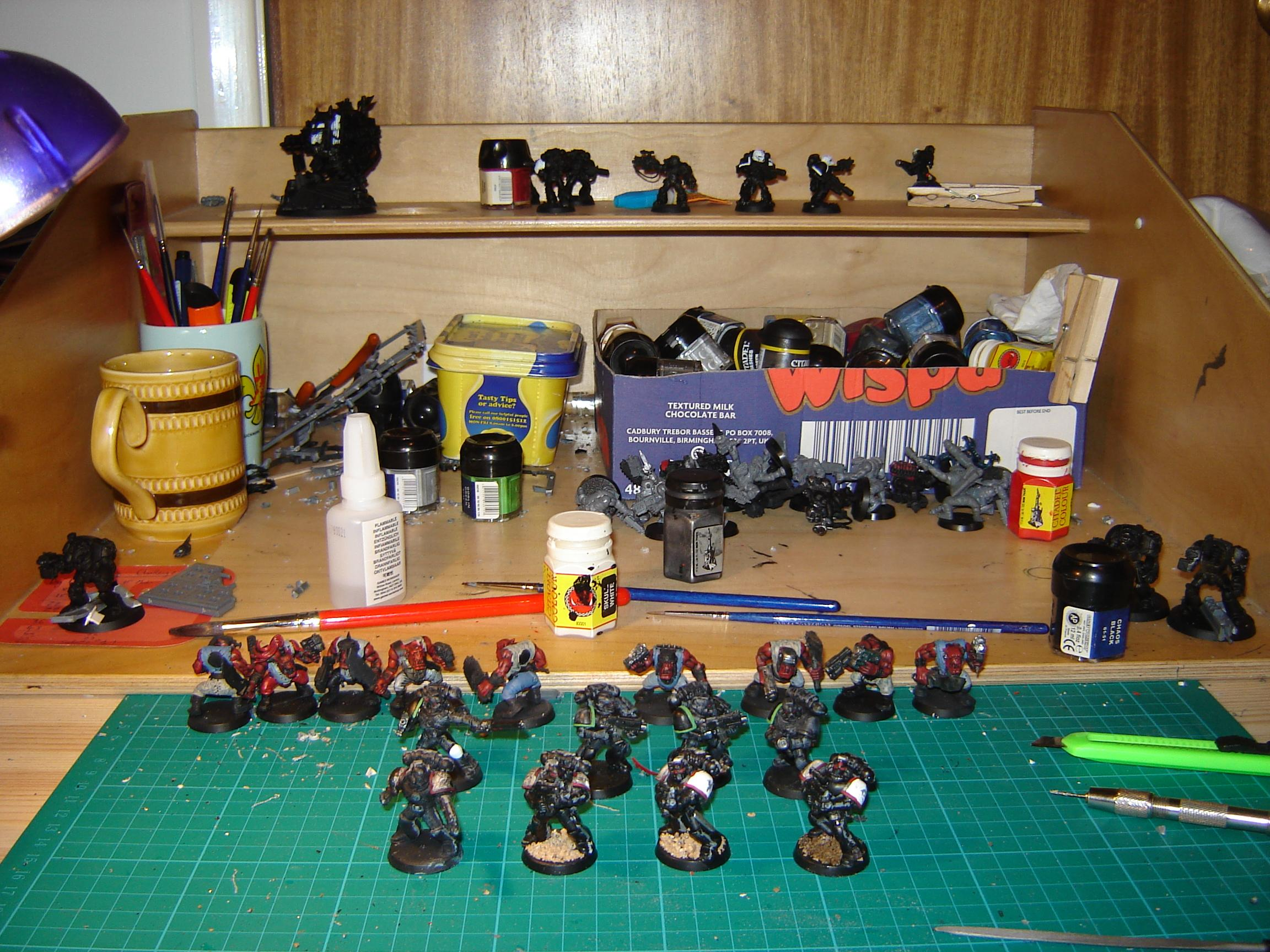 Moving slowly on...8 models completed...38 left to finish!