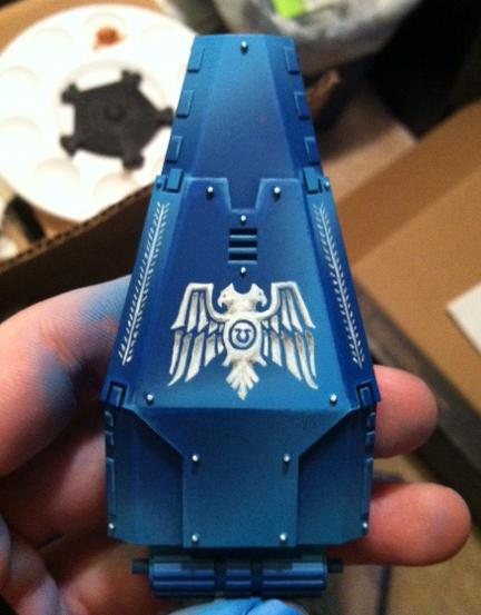 Drop Pod, Freehand, Space Marines, Work In Progress