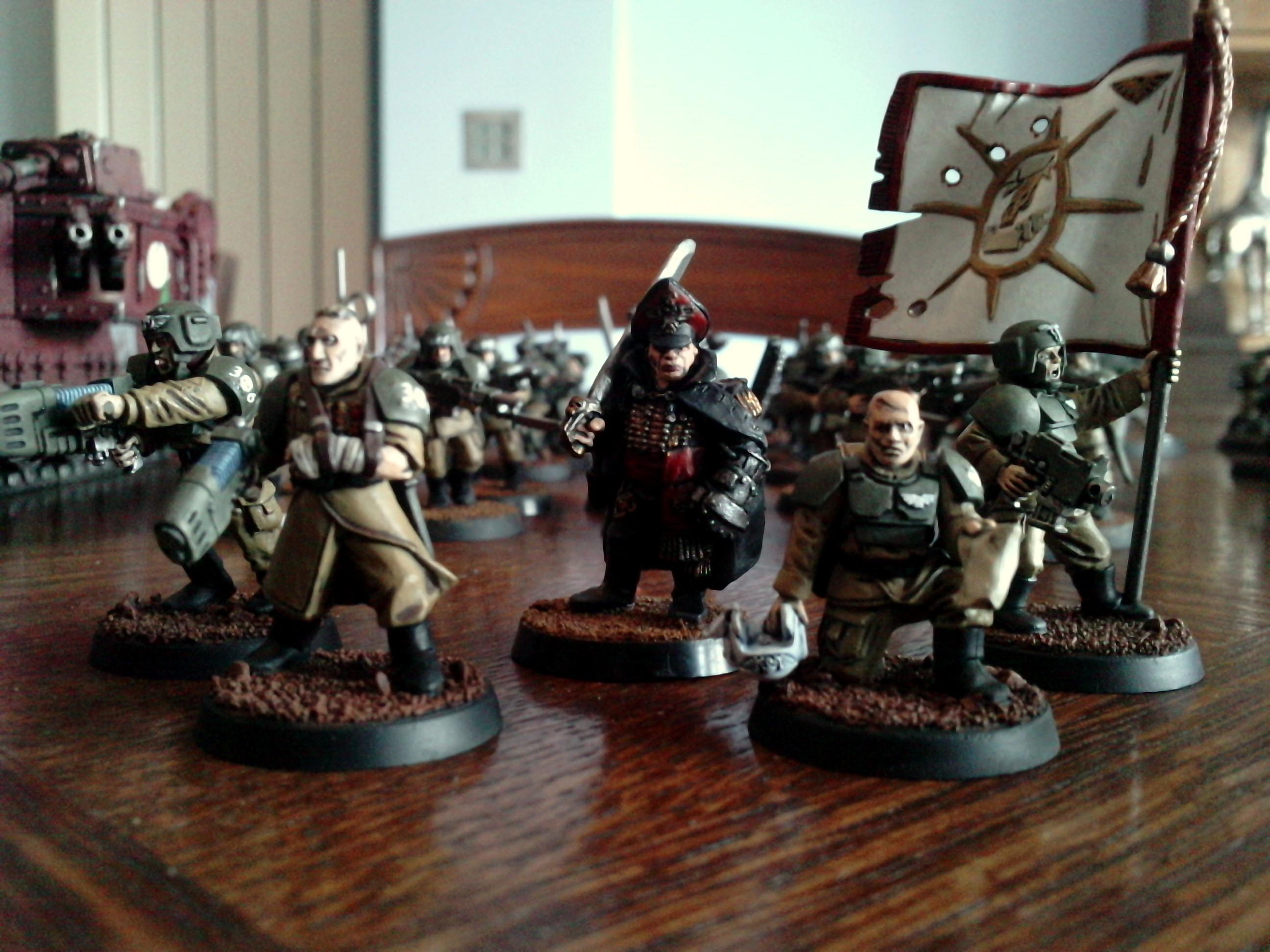 Cadians, Commissar, Imperial Guard, Platoon Command, Warhammer 40,000