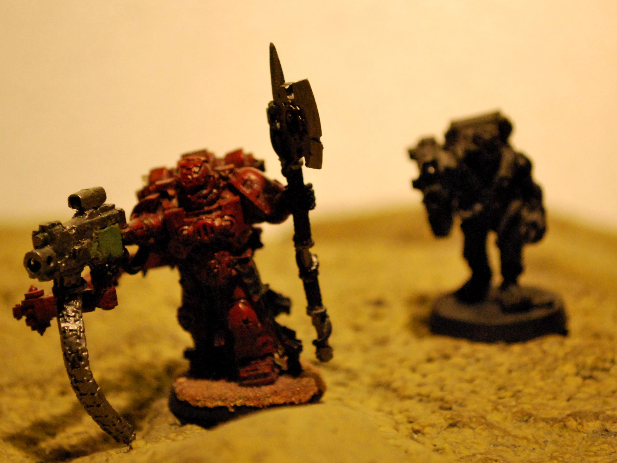 heavy bolter with 1 hand