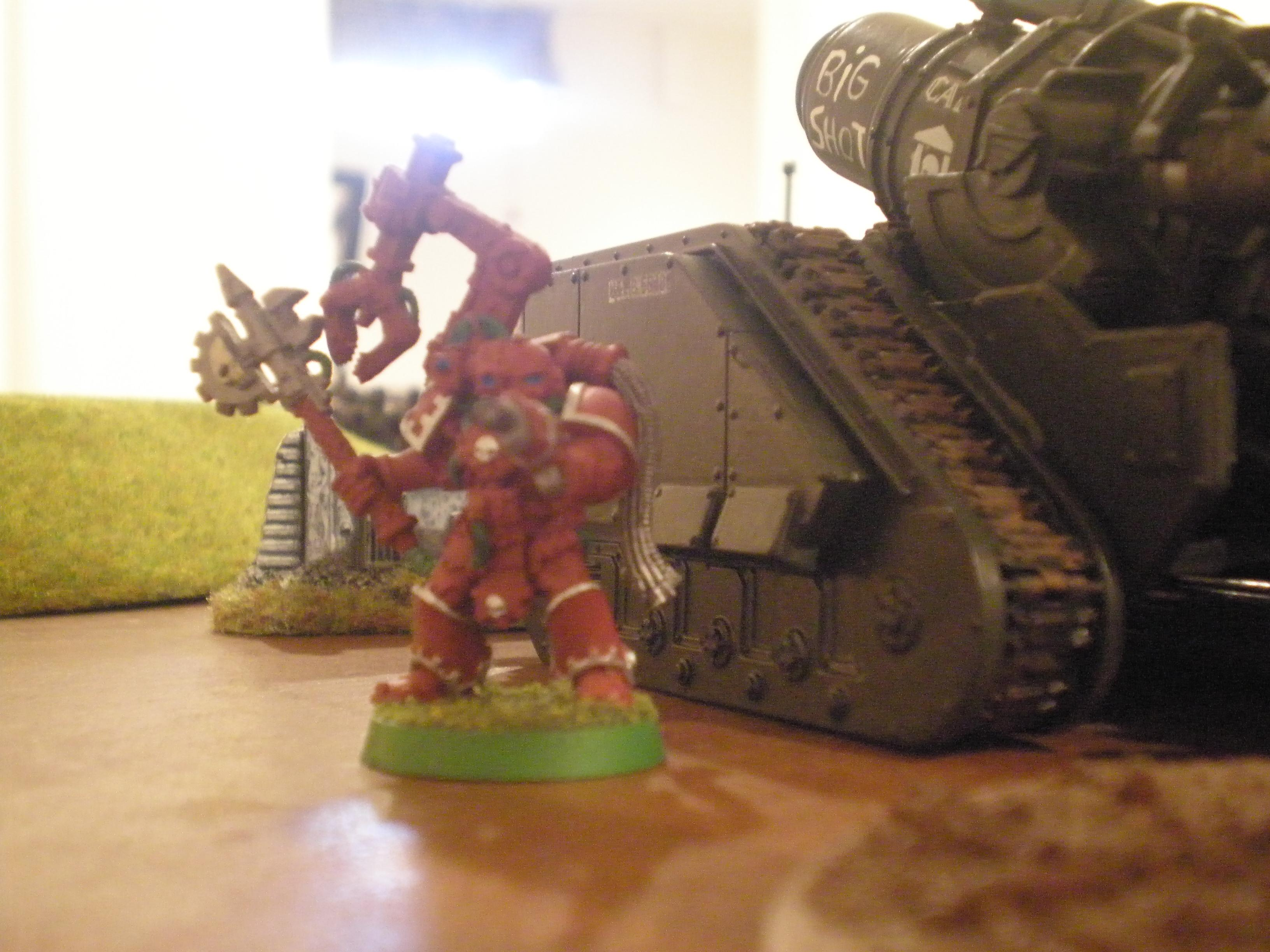 Imperial Guard, A tech adept zealously guards this artillery vehicle