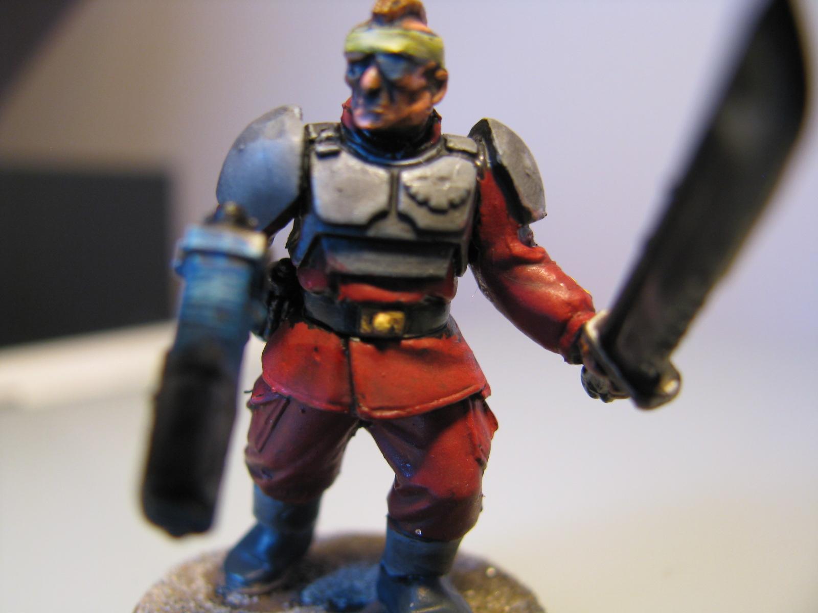 Guard, Imperial Guard, Nmm Gold, Plasma Pistol, Powersword, Sergeant, Sword