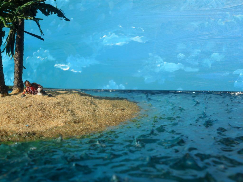 Beach, Diorama, Imperial Guard, Island, Officer, Pretorian, Sand, Scratch Build, Terrain, Water, Water Effects