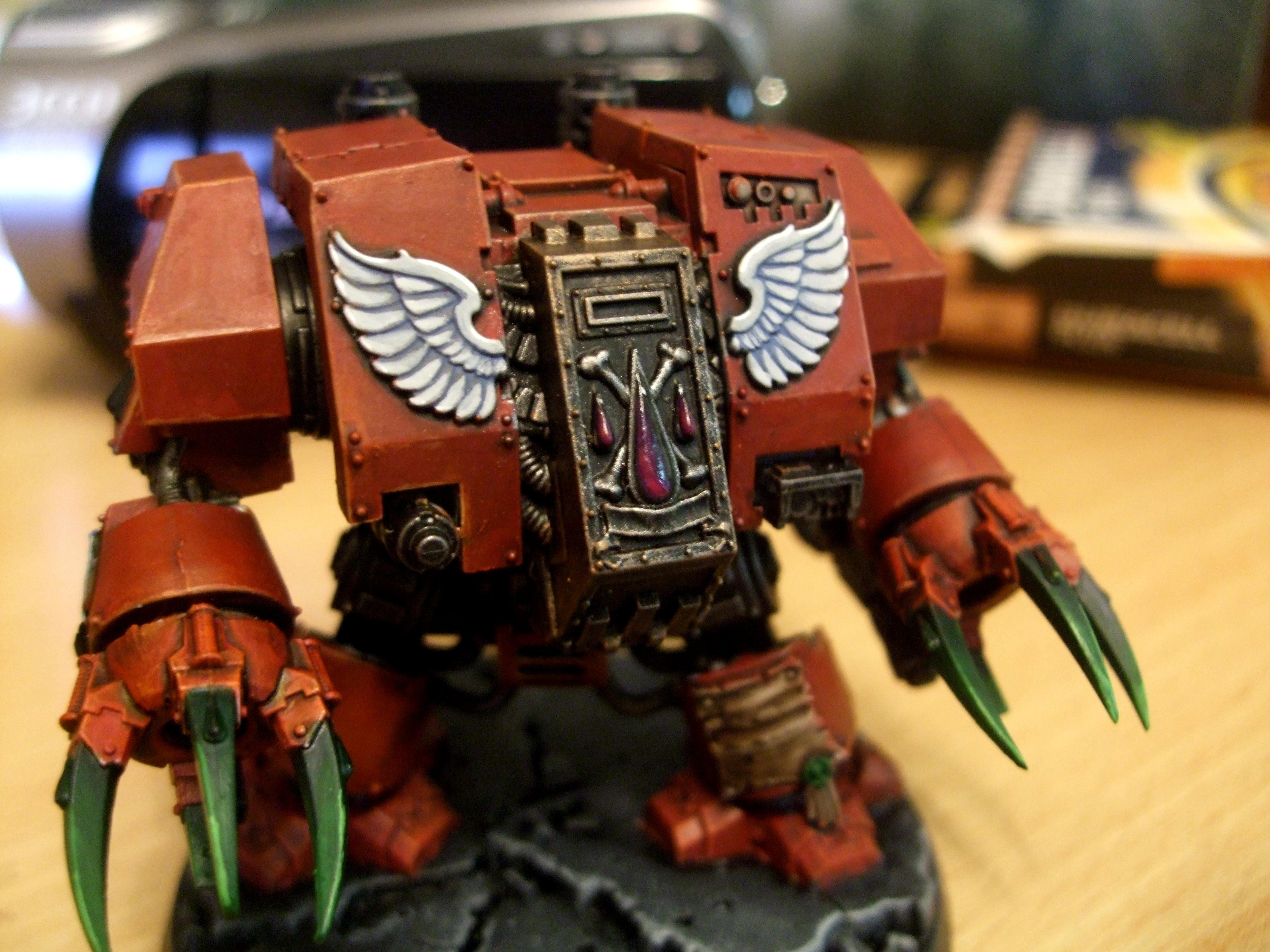Blood Angels, Blood Angels Dreadnaught, Cybot, Dreadnought, Red