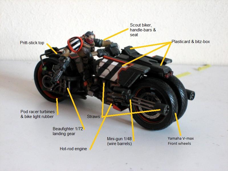Bike, Scouts, Scratch Build, Space Marines