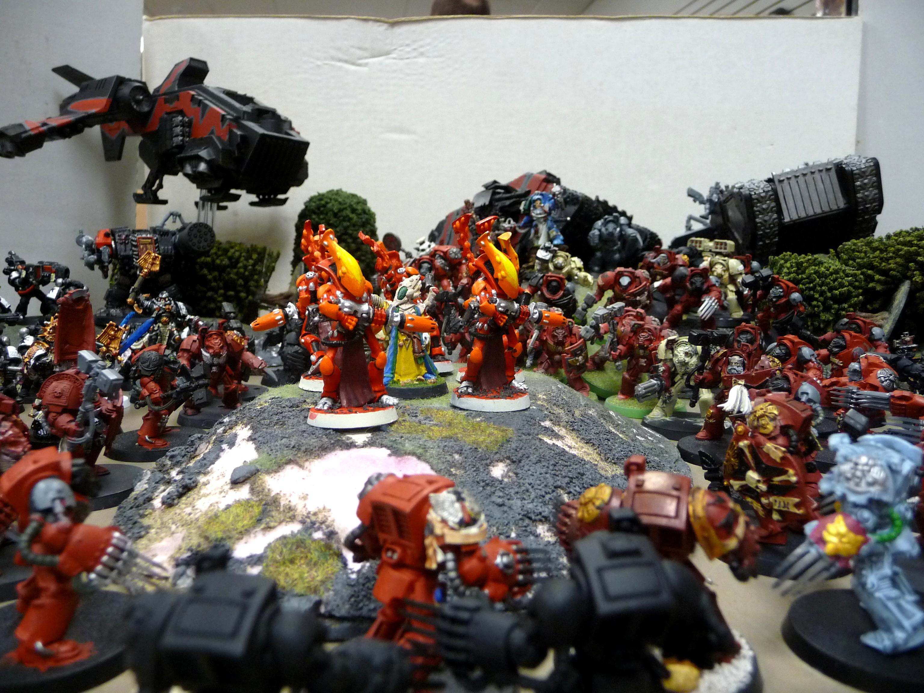 Black Templars, Blood Angeles, Dark Angeles, Eldar, Space Marines, Terminator Armor, Wraithguard