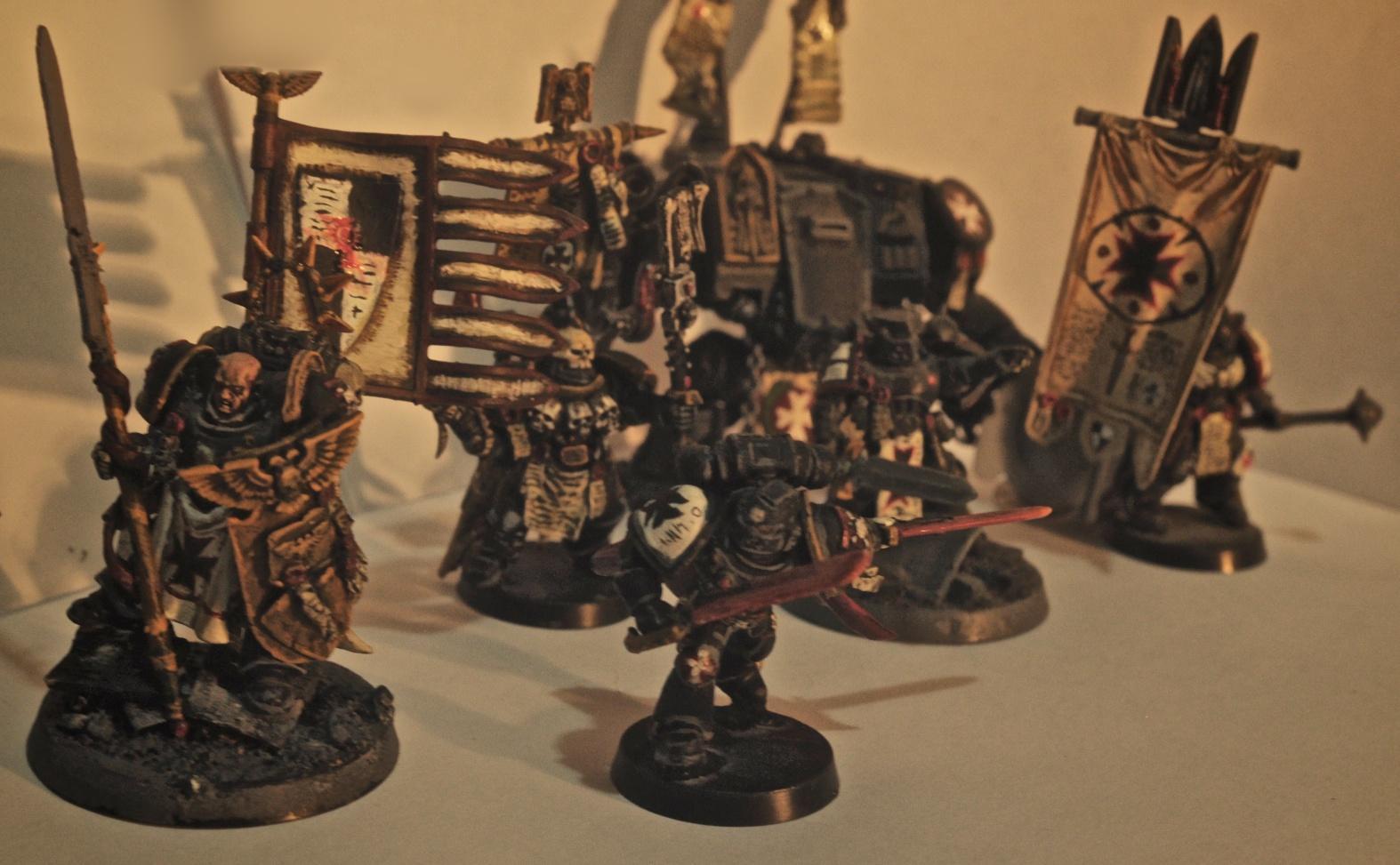 Black, Space, Space Marines, Templars, Warhammer 40,000, Warhammer Fantasy