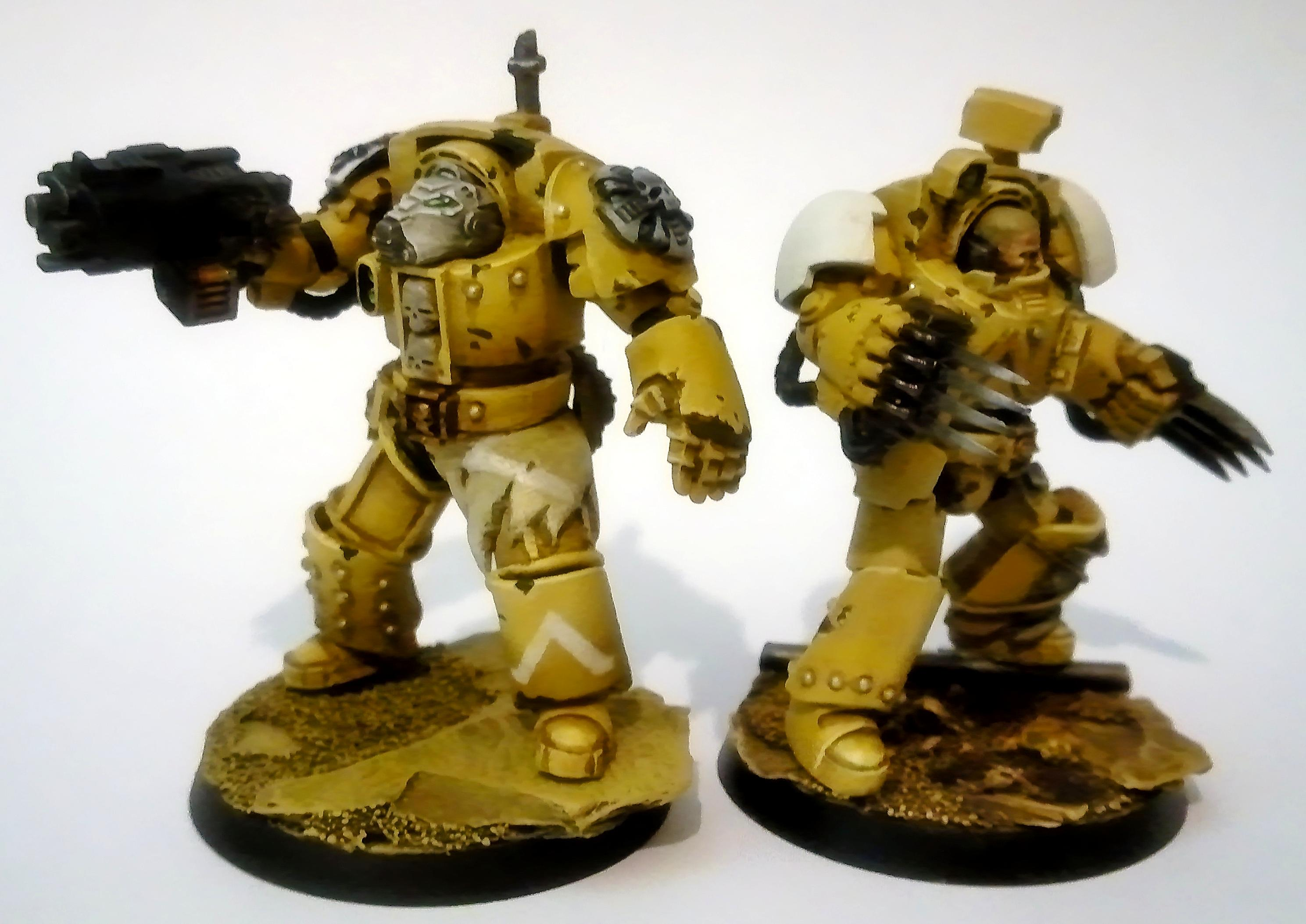Conversion, Lightning Claw, Power Fist, Space Marines, Storm Bolter, Terminator Armor, True Scale, Yellow