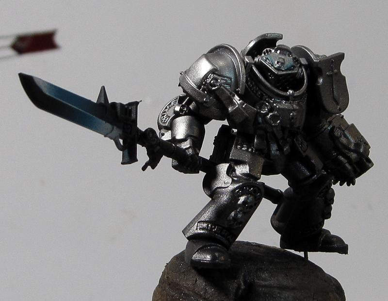 6. Grey Knight, power weapon airbrushed