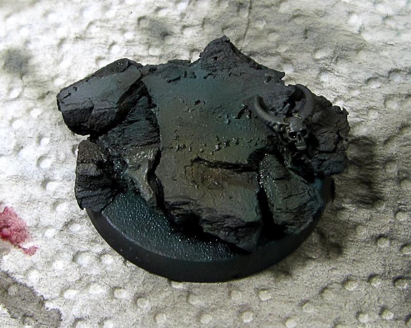 8. Grey Knight, base made of bark, airbrushed