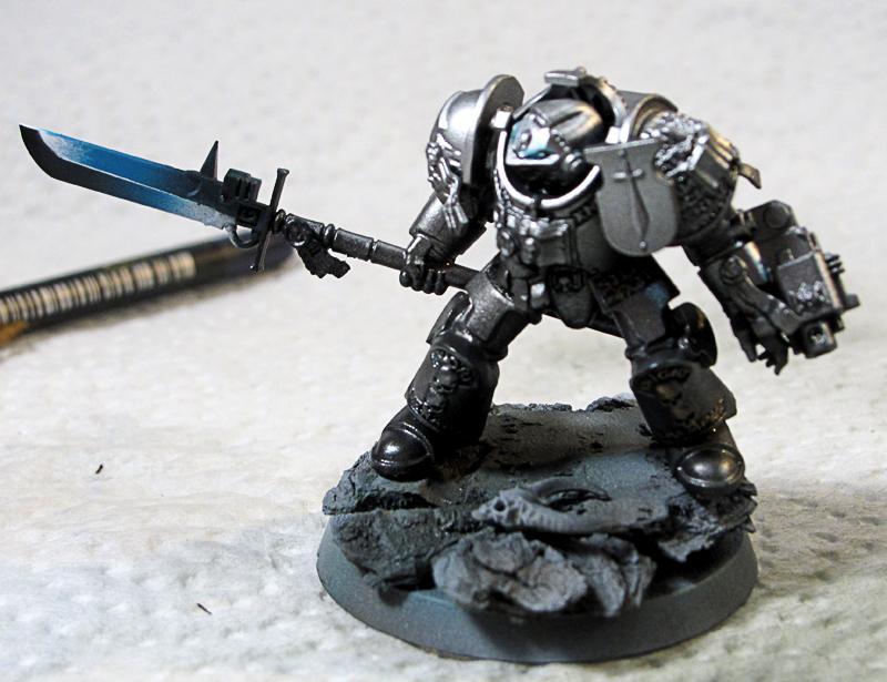 9. Grey Knight, mounted on base
