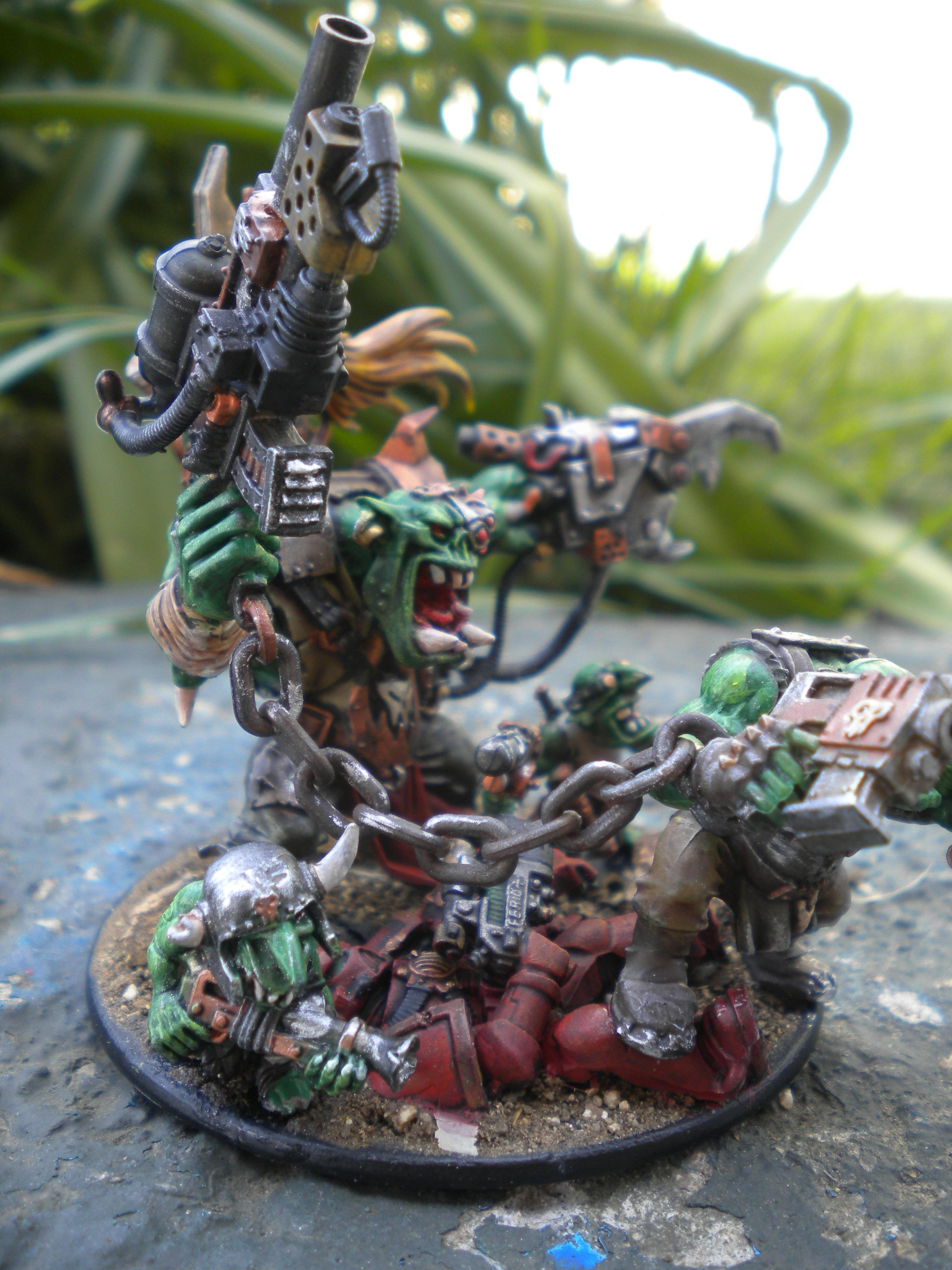 Assult and Black Reach Ork Boss and body guards