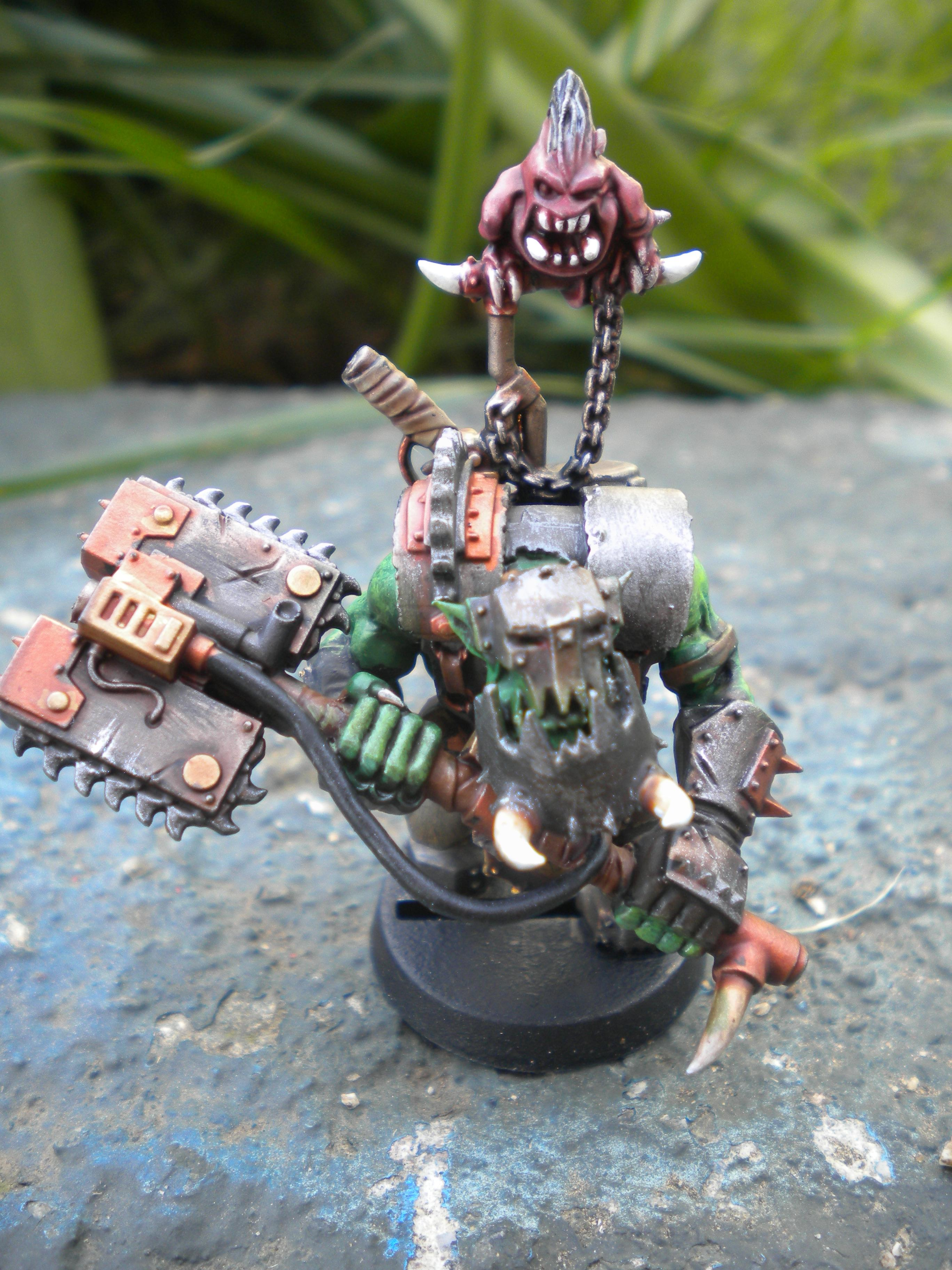 Ork Nob with chain-ax