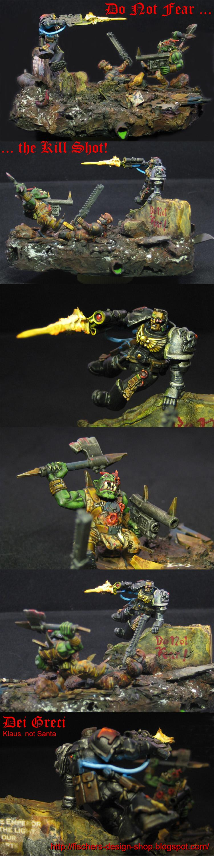 Diarama, Imperial Guard, Orks, Space Marines